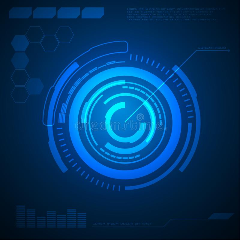 抽象圈子技术背景高科技通信概念,未来派数字背景 库存例证
