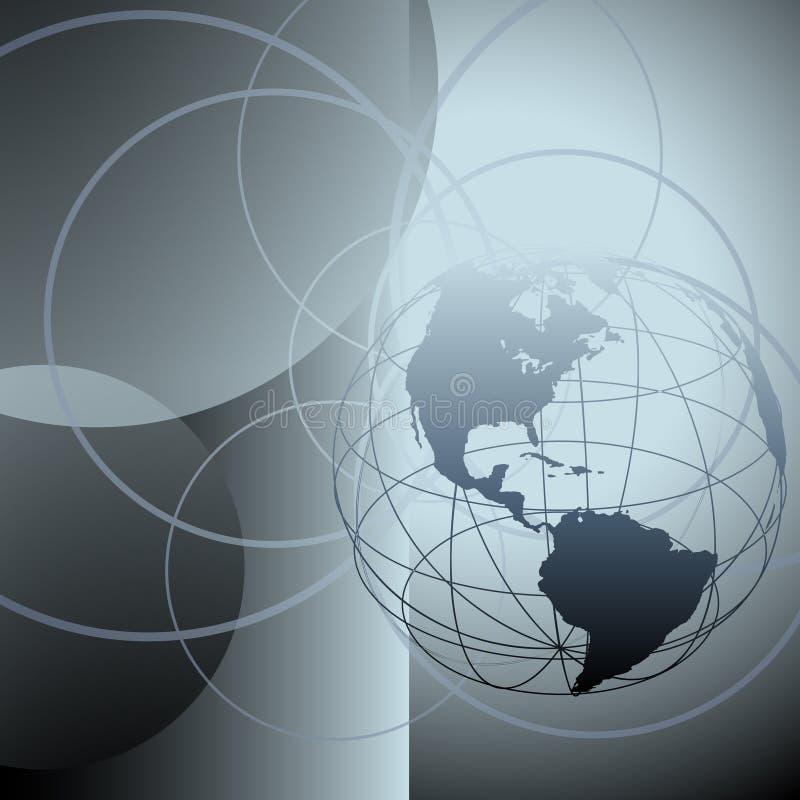 抽象圈子接地全球地球 皇族释放例证