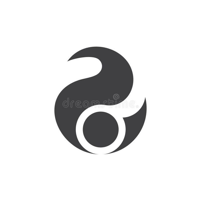 抽象圈子曲线加点几何设计商标 库存例证