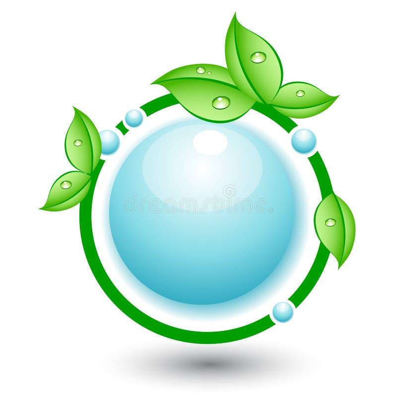 抽象圈子概念eco生态 皇族释放例证