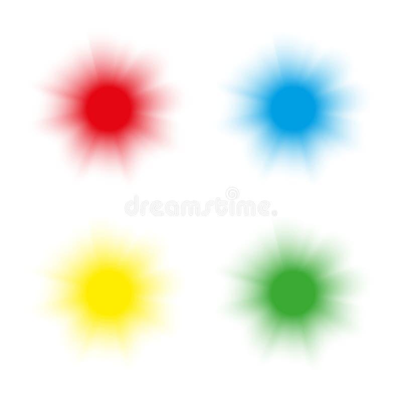 抽象圈子背景集合 背景图标拖拉机万维网被转动的白色 向量例证