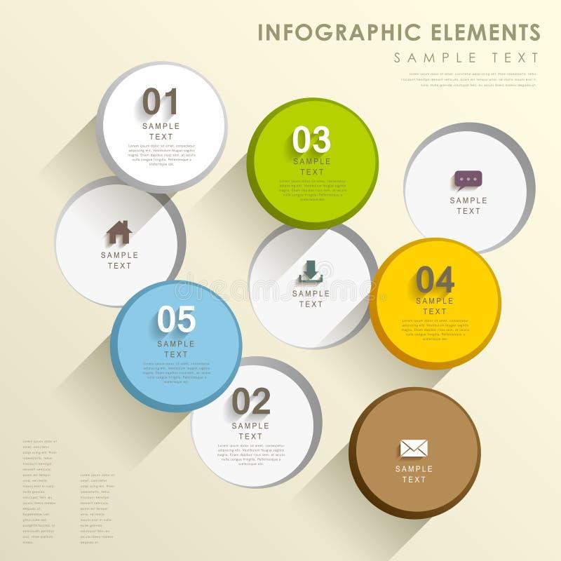 抽象圈子infographics 皇族释放例证