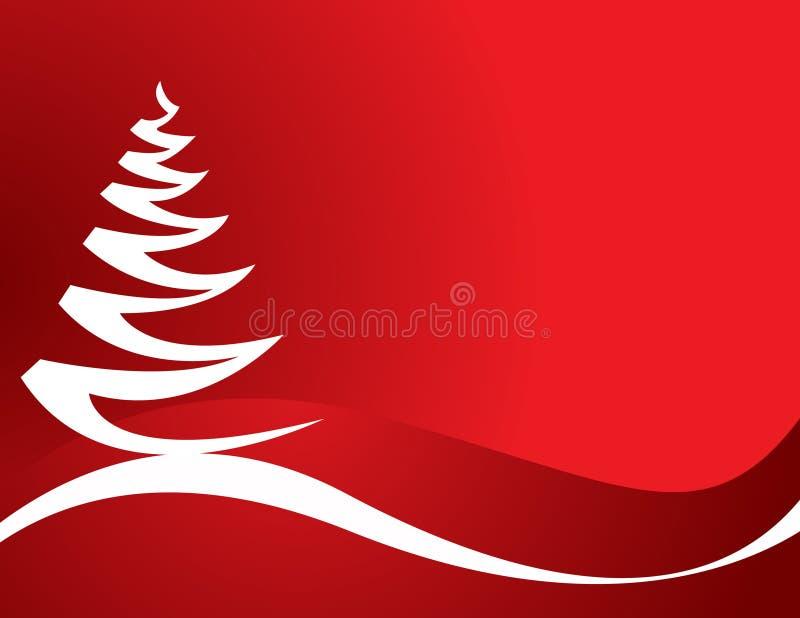 抽象圣诞树向量 皇族释放例证