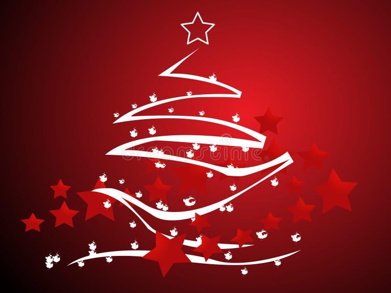 抽象圣诞树向量 库存例证