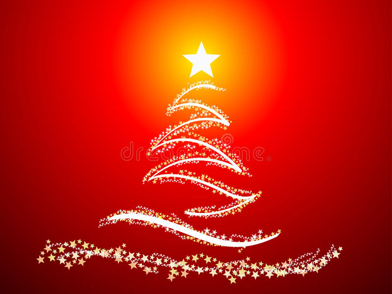 抽象圣诞树 向量例证