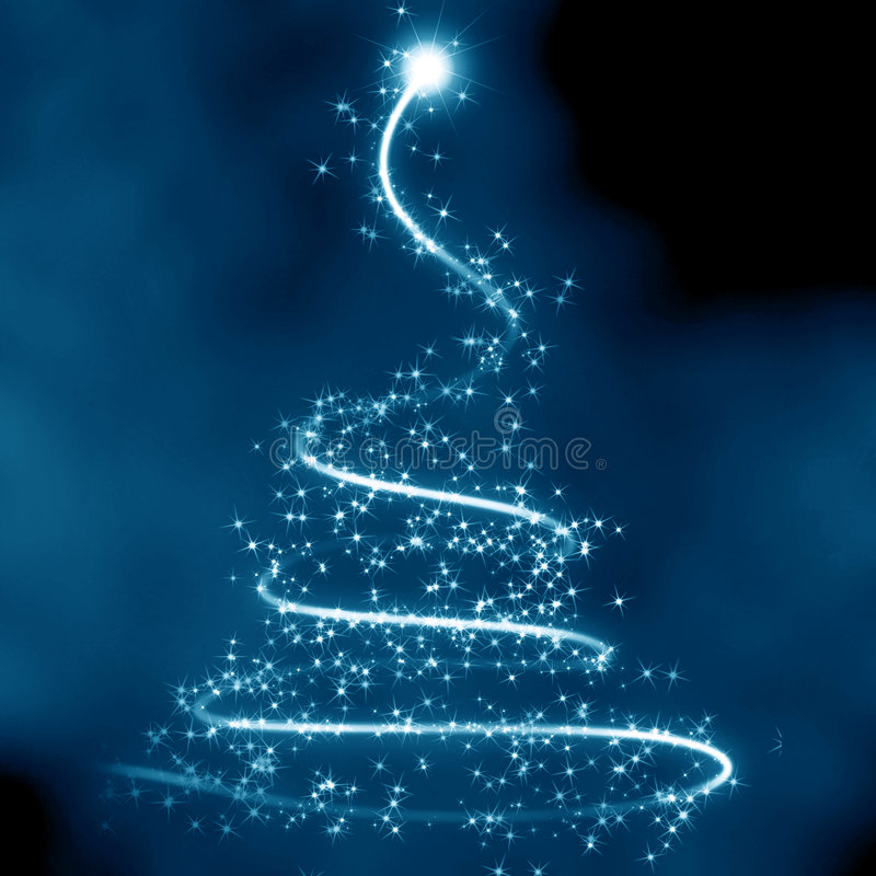 抽象圣诞树 皇族释放例证