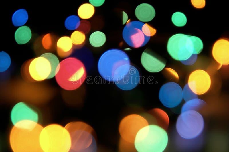 抽象圣诞灯 免版税库存照片