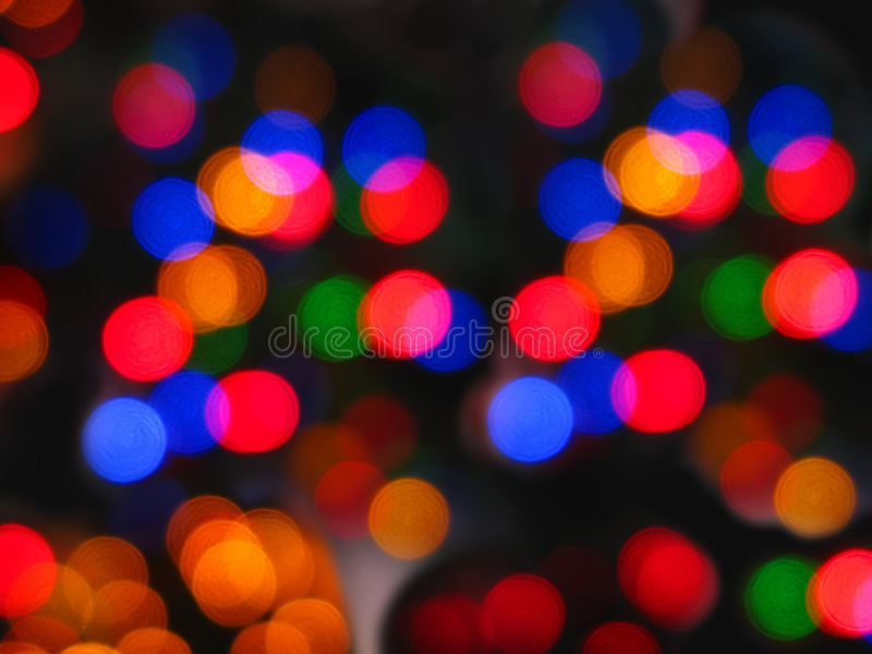 抽象圣诞灯 免版税库存图片
