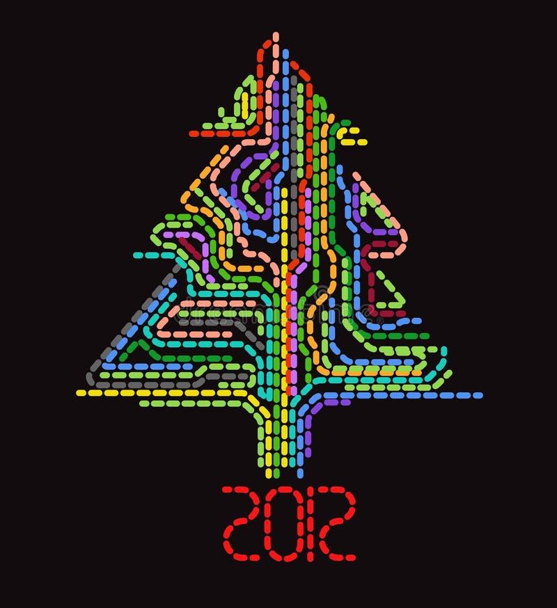 抽象圣诞节加点结构树 图库摄影
