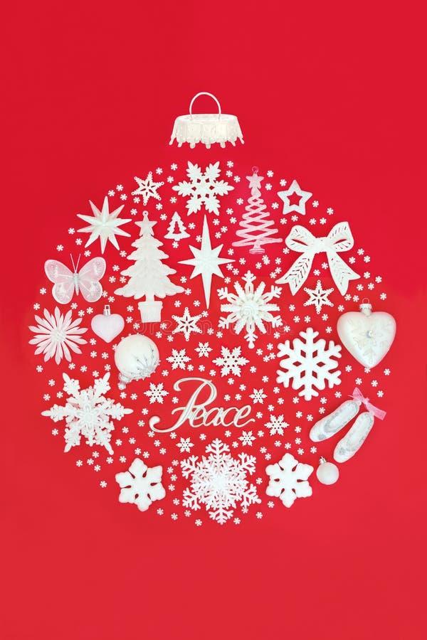 抽象圣诞节和平中看不中用的物品 库存图片