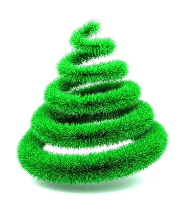 抽象圣诞节毛茸的结构树 向量例证