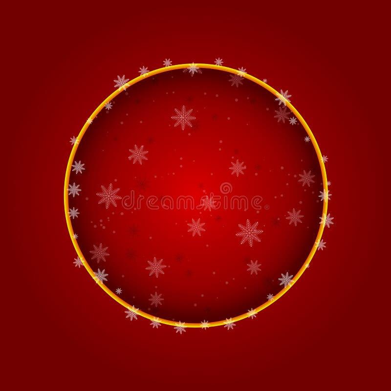 抽象圣诞节球从在红色背景的纸cutted 向量eps10例证 向量例证