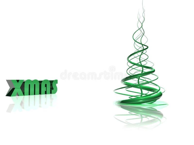 抽象圣诞节绿色结构树 皇族释放例证