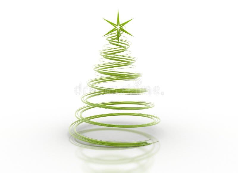 抽象圣诞节绿色spial结构树 向量例证