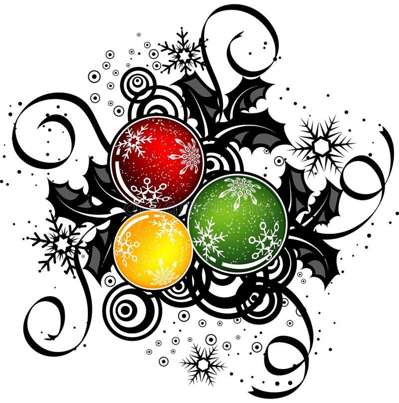 抽象圣诞节设计向量 向量例证