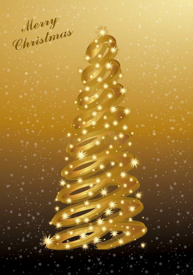 抽象圣诞节金子 向量例证
