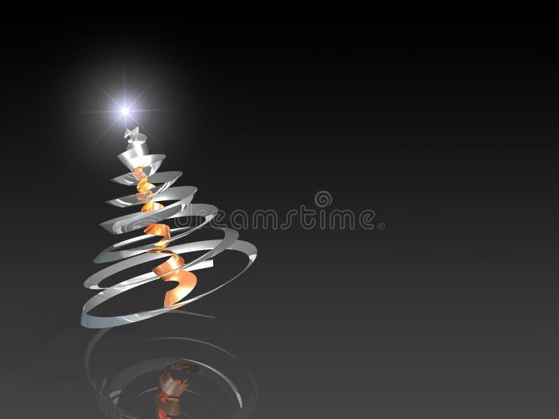 抽象圣诞节钢结构树 皇族释放例证