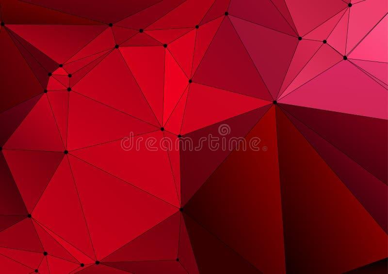 抽象在低多样式的马赛克三角背景 皇族释放例证
