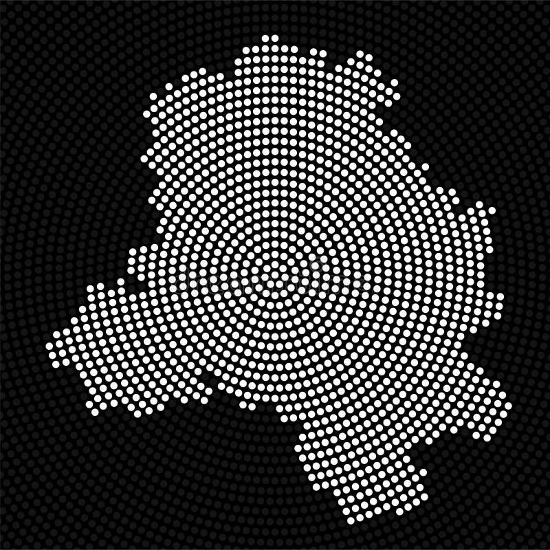 抽象地图辐形小点德里  向量例证