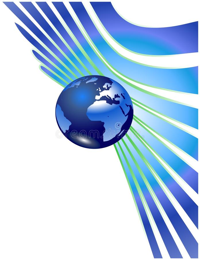抽象地球地球 皇族释放例证