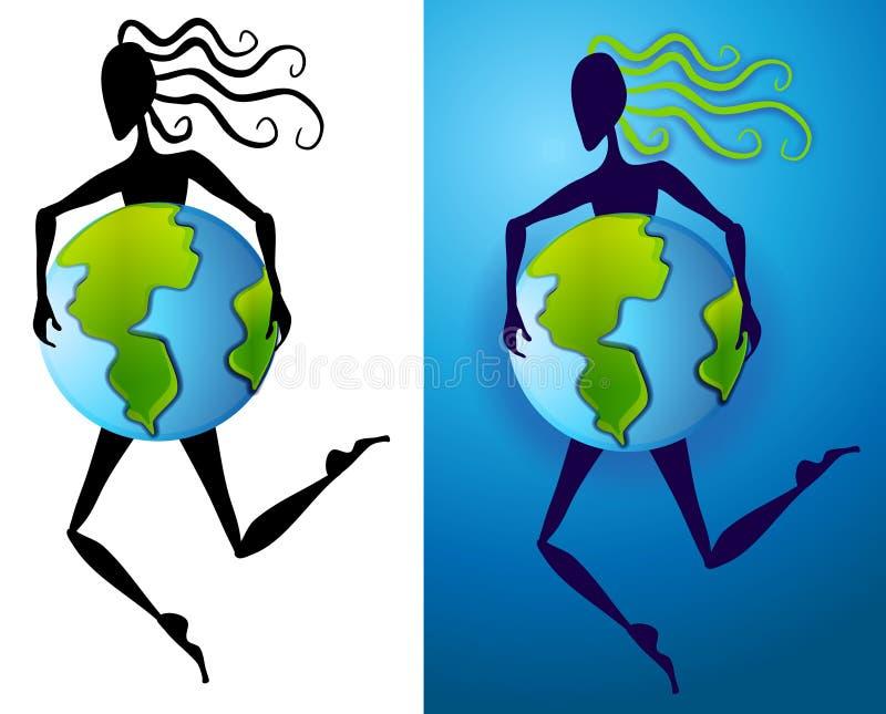 抽象地球形状母亲 库存例证