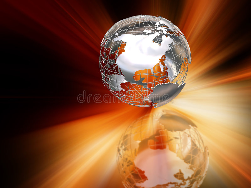 抽象地球 向量例证