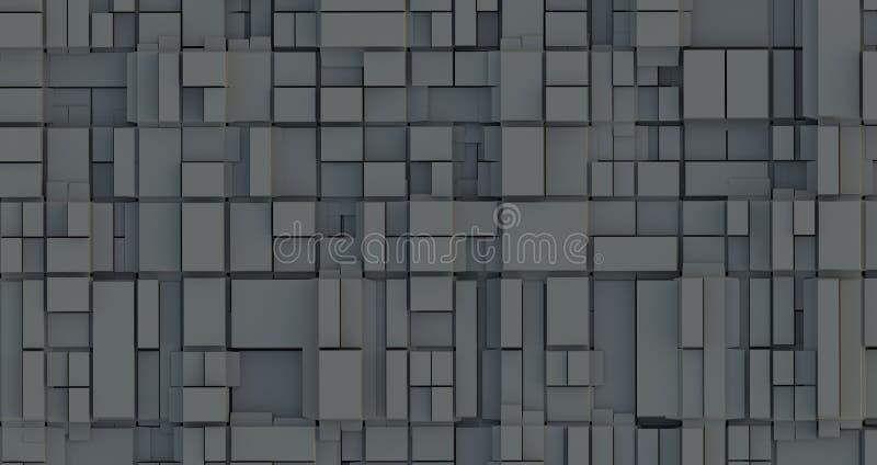 抽象地面箱子,立方体 库存例证