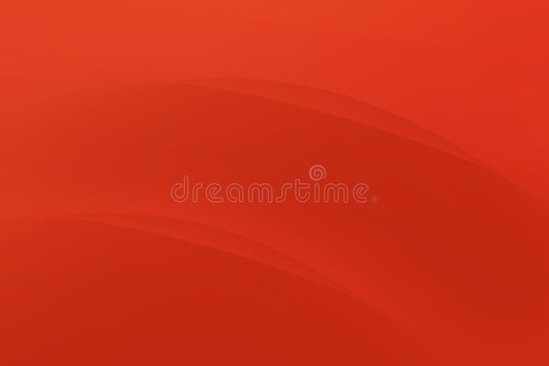 抽象坚硬红颜色曲线现代背景 皇族释放例证