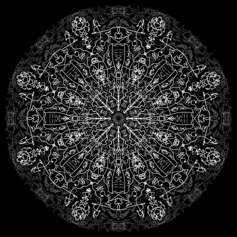 抽象坛场 与质朴的线的数字式设计 图库摄影