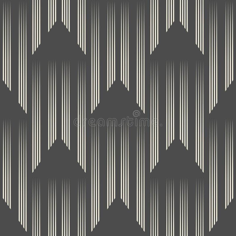 抽象垂直条纹装饰品 不尽的三角墙纸 库存例证