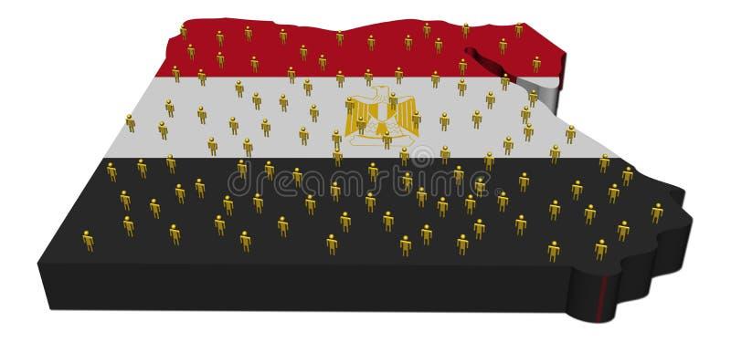 抽象埃及标志映射人员 库存例证