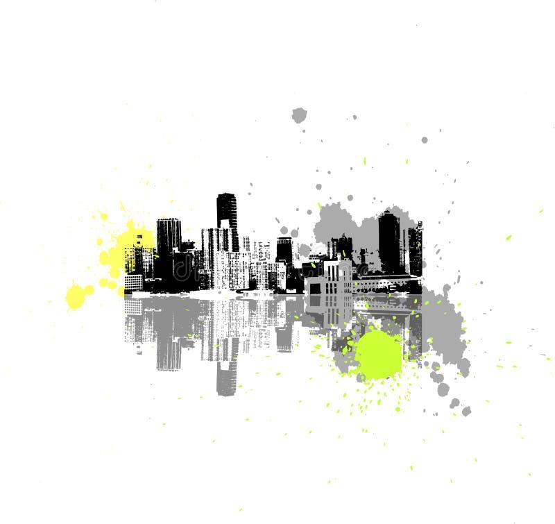 抽象城市向量 皇族释放例证