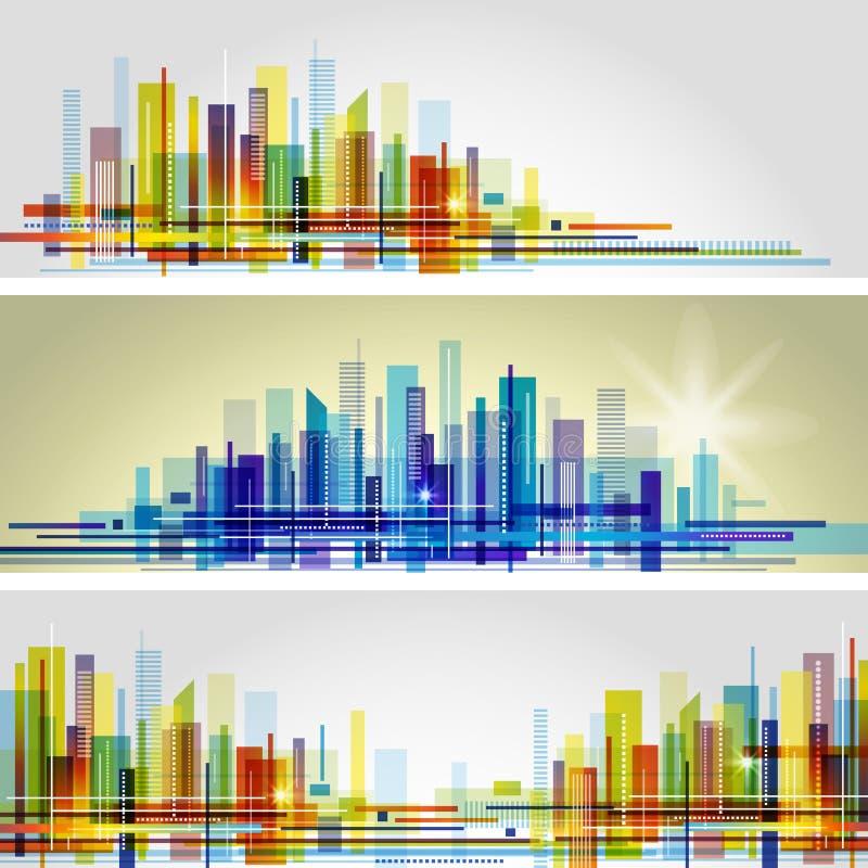 抽象城市地平线 向量例证