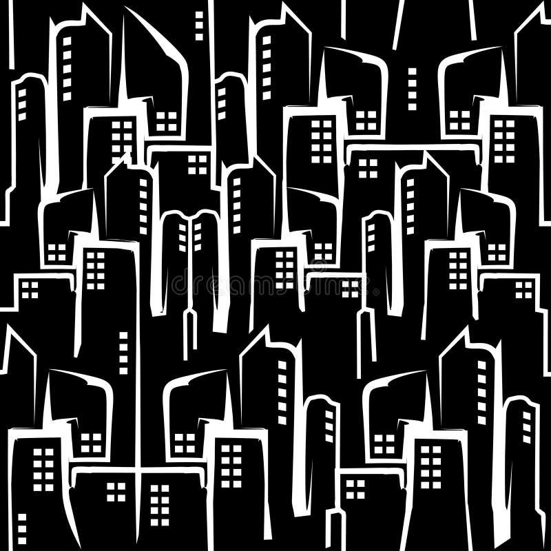 抽象城市大厦 现代时髦的建筑学 向量例证