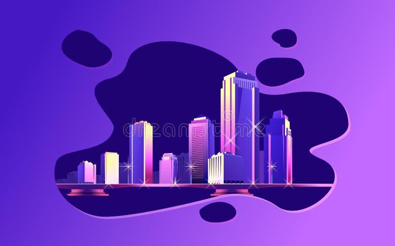 抽象城市斑点 向量例证