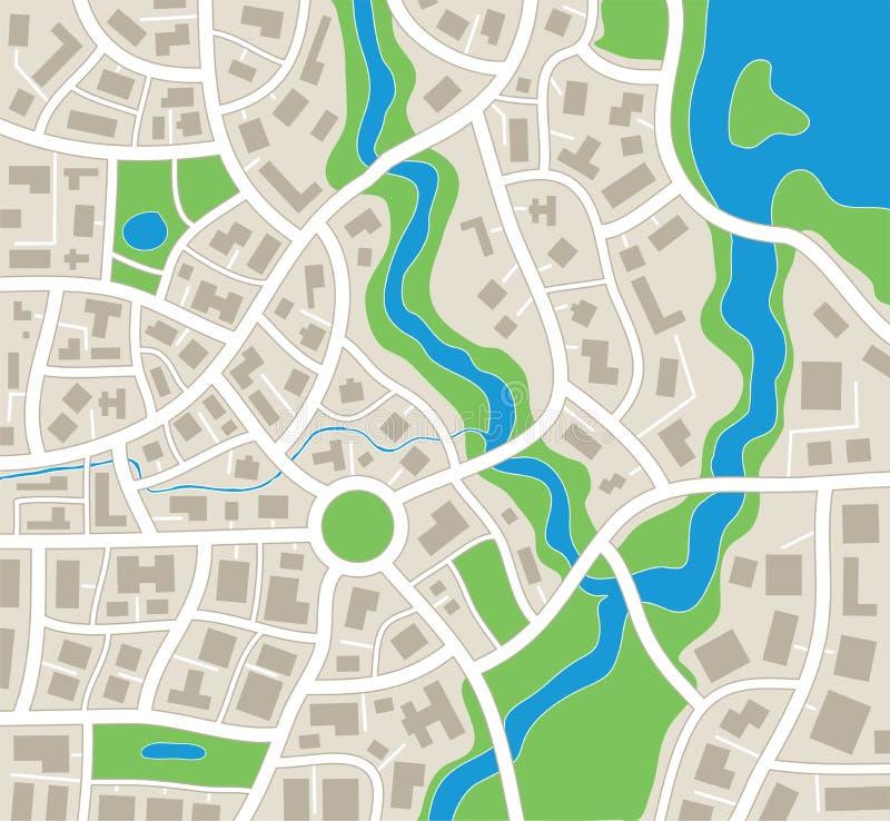 抽象城市映射 向量例证