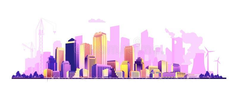 抽象城市横幅 向量例证