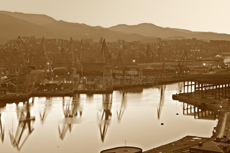 抽象城市行业 免版税图库摄影