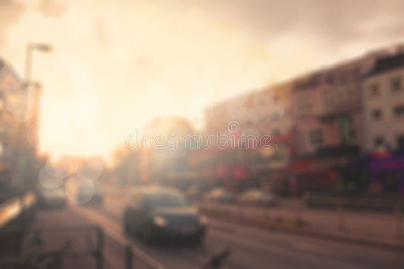 抽象城市街道日落 库存图片