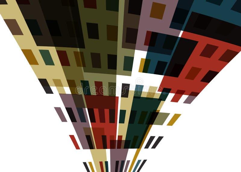 抽象城市 向量例证