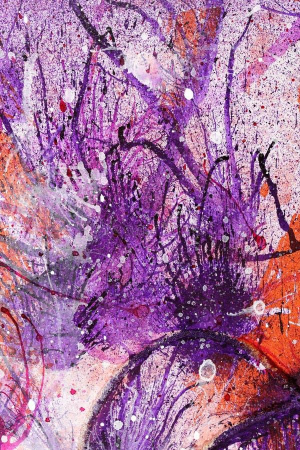 抽象墨水和油漆泼溅物 库存图片