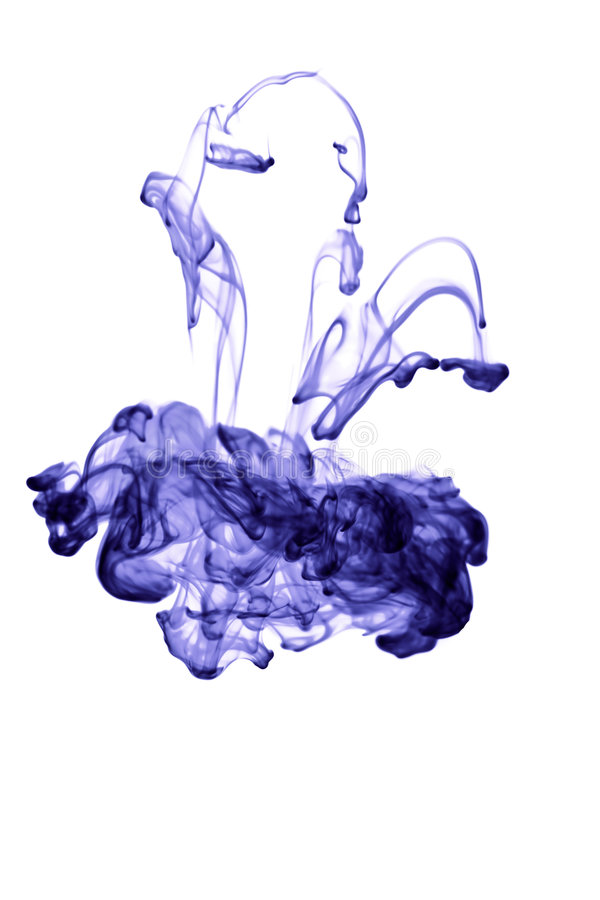 抽象墨水查出的水 免版税库存照片