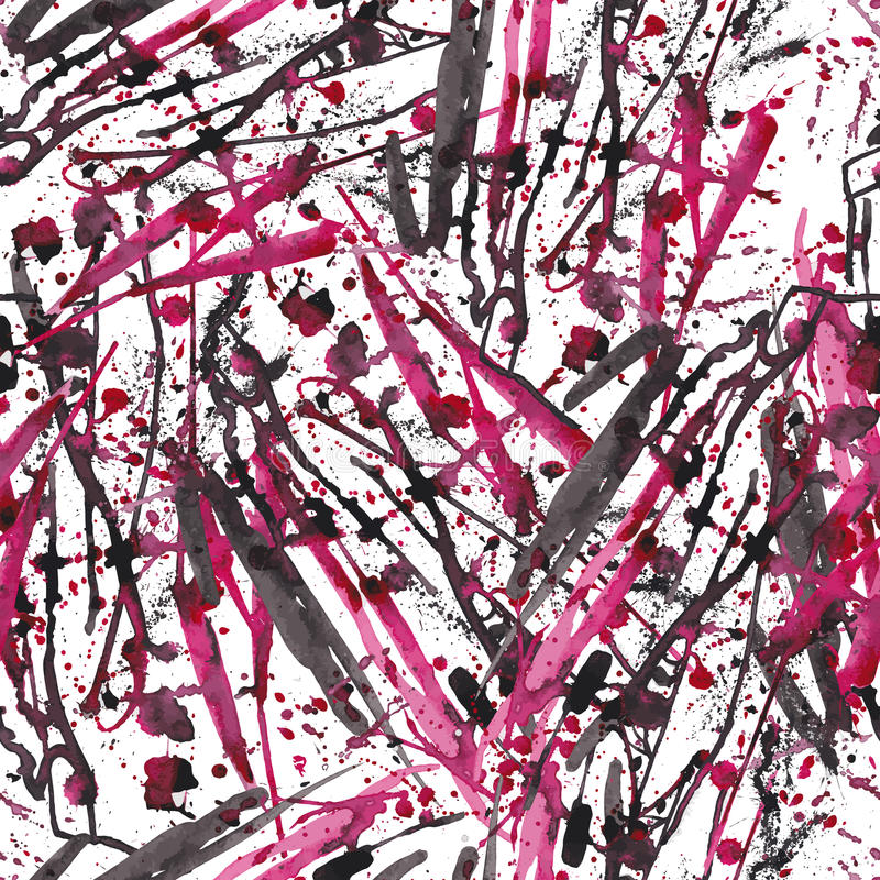 抽象墨水察觉无缝的样式 背景 时髦现代 向量例证
