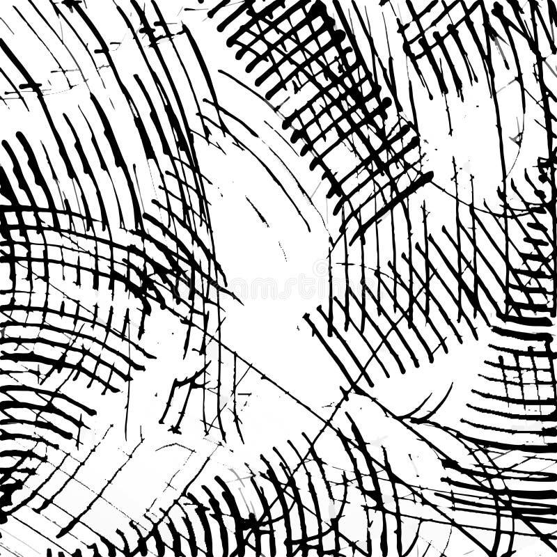 抽象墨水抓痕纹理传染媒介 皇族释放例证