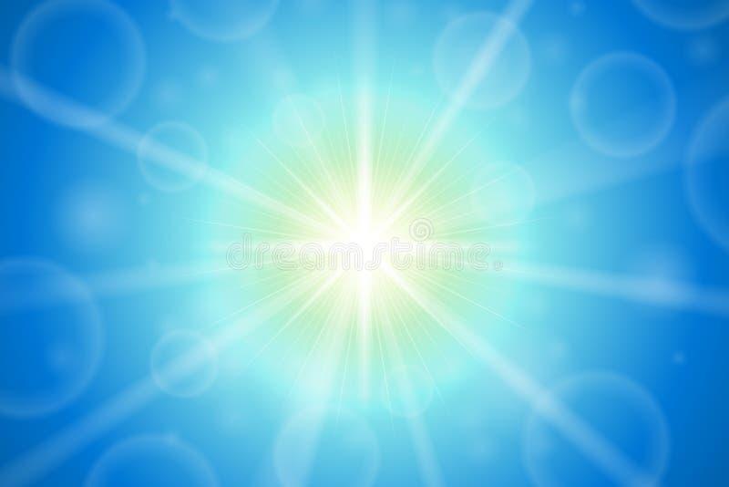 抽象夏天太阳透镜火光 库存例证