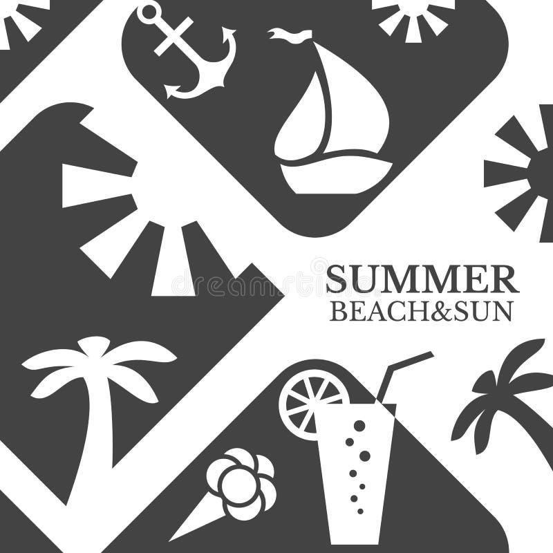 Download 抽象夏天菜单例证 海滩和太阳 库存例证. 插画 包括有 例证, 小船, 手段, 旅途, 明信片, 饮料, 奶油 - 62535598