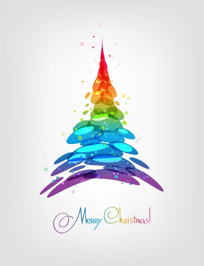 抽象多彩多姿的圣诞树传染媒介 皇族释放例证