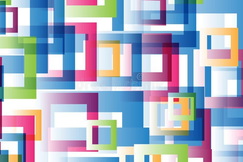 抽象多彩多姿的正方形 图库摄影