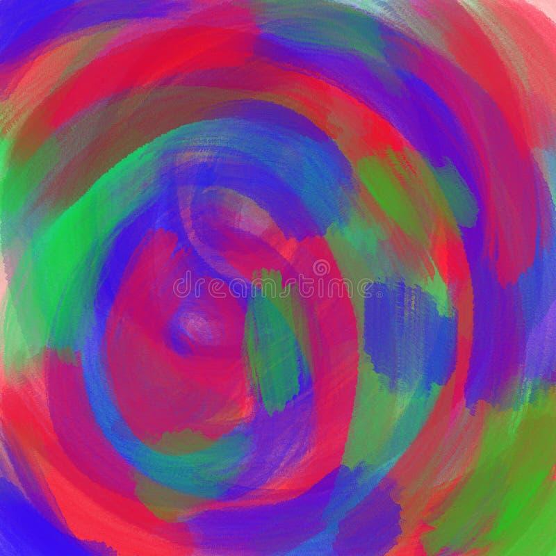 抽象多彩多姿的水彩背景 颜色刷子冲程 库存例证