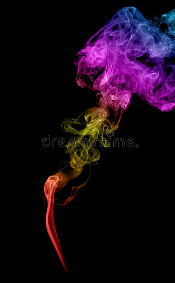 抽象多彩多姿的烟 库存照片